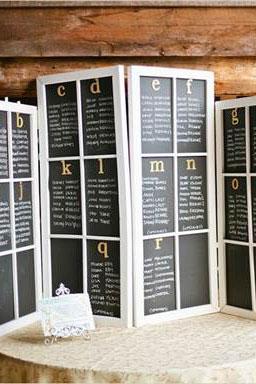 blackboard room divider prop for events